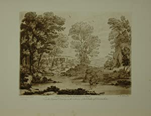Landscape. From the original drawing in the collection of the Duke of Devonshire: Cupid and Psych...
