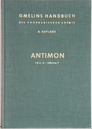 Gmelin Handbuch der anorganischen Chemie. (Handbook of: Gmelin SB Antimon,