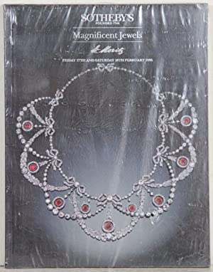 Magnificent Jewels. Auction: St Moritz, Friday 17th and Saturday 18 th February 1995.