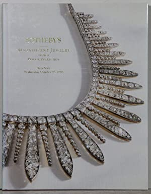 Magnificent Jewelery from a private Collection. Auction: New York, Wednesday, October 25, 1995.