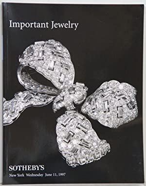 Important Jewelry. Auction: New York Wednesday June 11,1997.