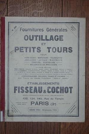 Fourniture générales, outillage et petits tours (pour: Fisseau & Cochot:
