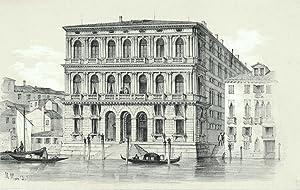 Venedig. Palazzo Corner della Ca' Granda. Getönte Orig.-Lithographie von Marco Moro, um 1840. ...