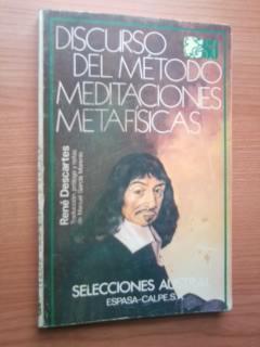 DISCURSO DEL METODO MEDITACIONES METAFISICAS: RENE DESCARTES