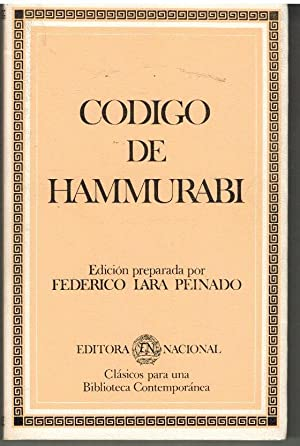 CODIGO DE HAMMURABI: FEDERICO LARA PEINADO