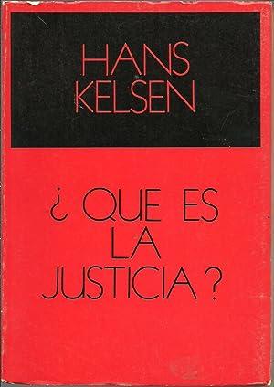 Â¿QUE ES LA JUSTICIA?: HANS KELSEN