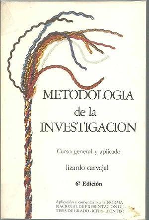 METODOLOGIA DE LA INVESTIGACION. CURSO GENERAL Y APLICADO: LIZARDO CARVAJAL
