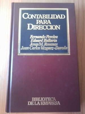 CONTABILIDAD PARA DIRECCION: FERNANDO PEREIRA SOLER,
