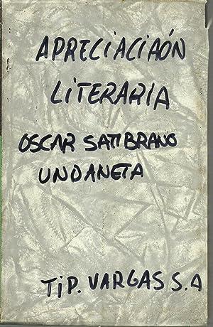 APRECIACION LITERARIA: OSCAR SAMBRANO URDANETA