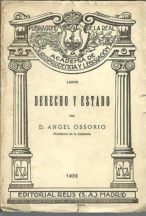 DERECHO Y ESTADO: D ANGEL OSORIO