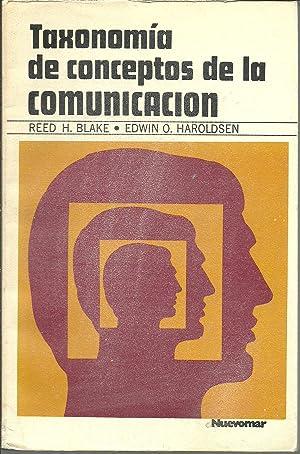 TAXONOMIA DE CONCEPTOS DE LA COMUNICACION: REED H.BLAKEEDWIN O. HAROLDSEN