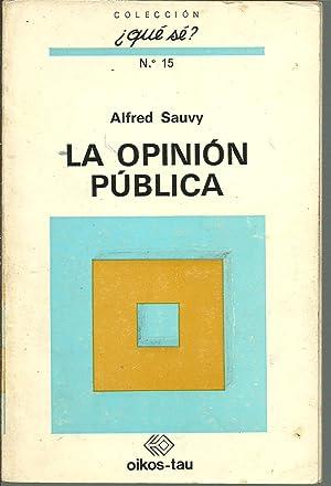LA OPINION PUBLICA: ALFRED SAUVY