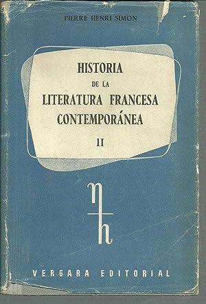HISTORIA DE LA LITERATURA FRANCESA CONTEMPORANEA II: PIERRE HENRI SIMON