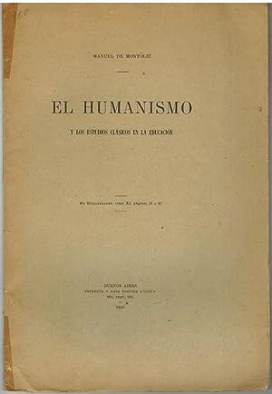EL HUMANISMO Y LOS ESTUDIOS CLASICOS DE LA EDUCACION: MANUEL MONTOLIU