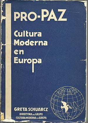 CULTURA MODERNA EN EUROPA: GRETA SCHUARCZ