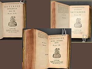 EUPHORMIONIS LUSININI SATYRICON MULTO QUAM ANTE EMEN DATIUS: BARCLAY John ( 1582 - 1621 )-