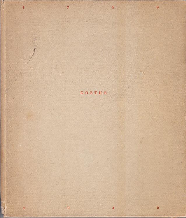 1749-Goethe-1949 : Hrsg. am 28. Aug. 1949: Goethe, Johann Wolfgang