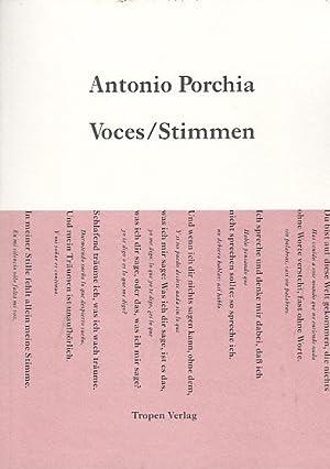 Voces = Stimmen. Antonio Porchia. Mit einem: Porchia, Antonio (Verfasser):