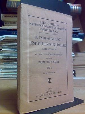 M. Fabii Quintiliani - INSTITUTIONIS ORATORIAE -