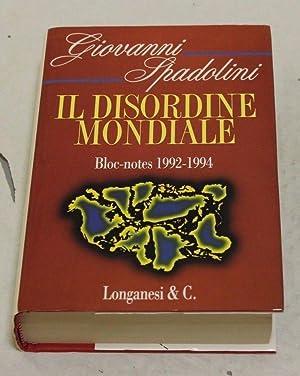 Giovanni Spadolini - Il disordine mondiale