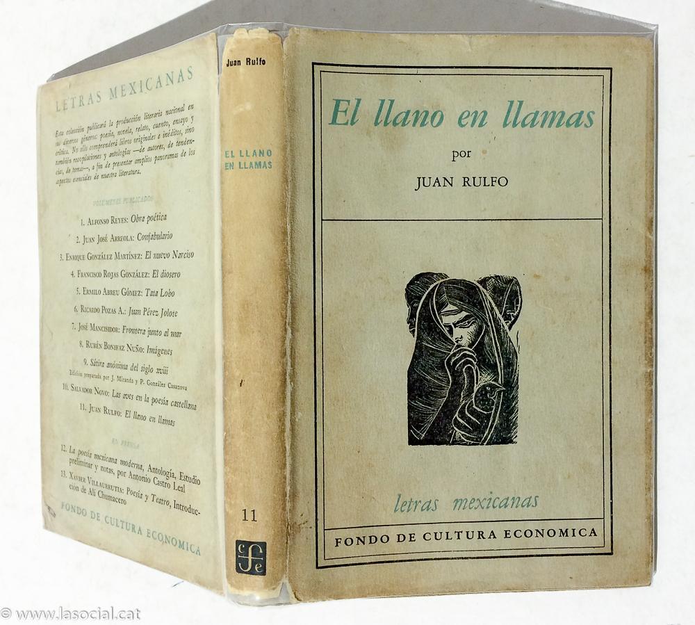 El llano en llamas de Juan Rulfo: Muy bien Tapa Dura c/ Sobrecubierta  (1953) Primera Edición   La Social. Galería y Libros
