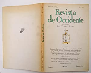 Revista De Occidente nº 10: Derecho consuetudinario y derecho legal; la guerra de guerrillas; ...