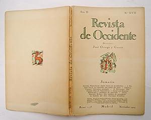 REVISTA DE OCCIDENTE n XVII. James Joyce en su laberinto; La doncella que bebía del pozo; ...