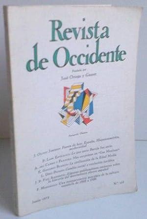 REVISTA DE OCCIDENTE º 123. Poesía De: J. Olivio Jiménez;