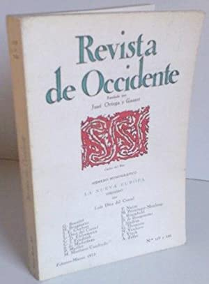 REVISTA DE OCCIDENTE n119 y 120. La Nueva Europa