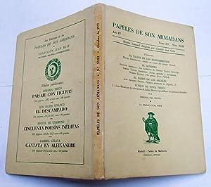 PAPELES DE SON ARMADANS. Año IV (1959) Tomo XV Núm. XLIII (Octubre): Tresjuncos; Azor...