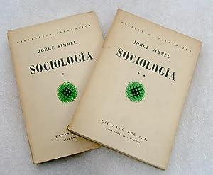 Sociología (tomo 1 y 2): George Simmel (Jorge)