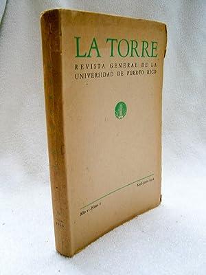 LA TORRE. Revista general de la Universidad: Pedro Salinas; Francisco