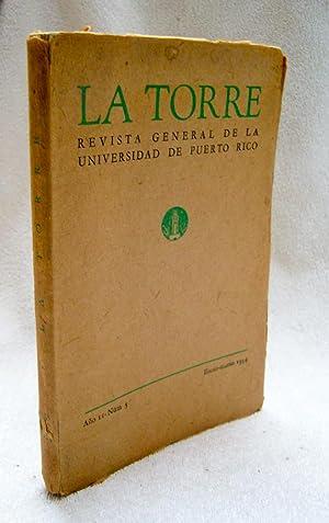 LA TORRE. Revista general de la Universidad: Ludwig Schajowicz; Juan