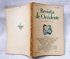 REVISTA DE OCCIDENTE n XLIII. Gaspar Ruiz (cuento romántico); Reflexiones sobre cinematografía; ...