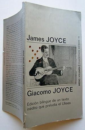 Giacomo Joyce. Edicion Bilingüe De Un Texto: James Joyce