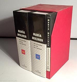Diccionario de uso del español en 2 volumenes y CD-Room. Vol. 1: A-H; Vol. 2: I-Z: María Moliner