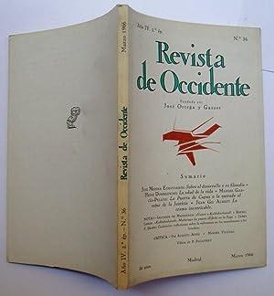 Revista De Occidente nº 36. Sobre El: José Medina Echavarría;