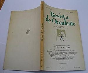 REVISTA DE OCCIDENTE nº 50. El Pensamiento Vivo De Larra; Larra, El Hombre; Larra y Los Seres ...