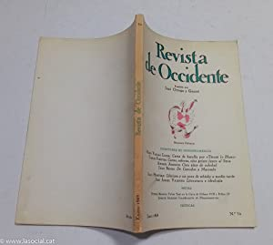 REVISTA DE OCCIDENTE n 70. Carta De: Mario Vargas Llosa;