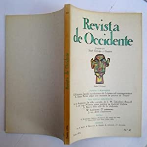 REVISTA DE OCCIDENTE n 87. Las Dos: K. Keniston; A.