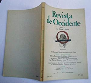 REVISTA DE OCCIDENTE n 106. Teoría Fundamental: W. Tetsuro; J.