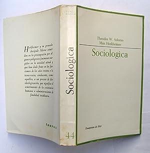 Sociologica: Theodor W. Adorno; Max Horkheimer