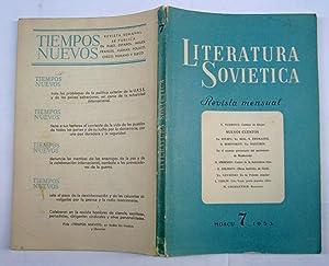 Literatura Soviética. Julio De 1953.: V. Tushova; Yu Ritjeu; Ya. Bril; S. Zhemaitis; G. Borovikov; ...