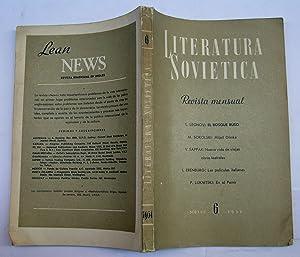 Literatura Soviética. Junio De 1954: L. Leonov; M. Sokolski; V. Sappak; I. Erenburg; P. Luknitski