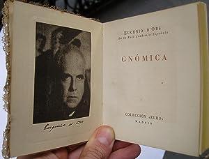 Gnómica: Eugenio d'Ors