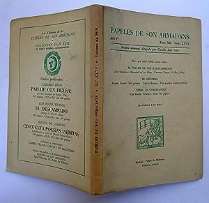 PAPELES DE SON ARMADANS. Año IV (1959) Tomo XII Núm. XXXV (Febrero): Hace Por Estas ...