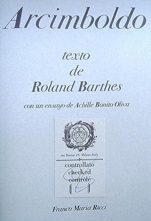 Arcimboldo: Roland Barthes; Achille Bonito Oliva