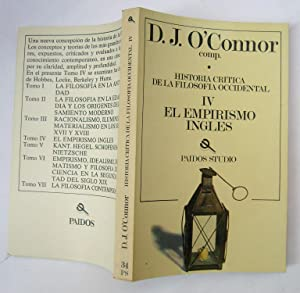 Historia Critica De La Filosofía Occidental IV. El Empirismo Inglés: D. J. O'Connor