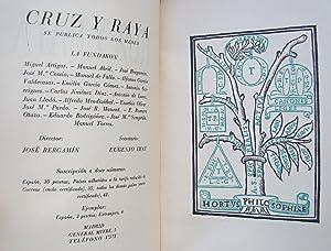 Cruz y Raya. Revista De Afirmación y Negación. Num 19.: Benjamín Palencia; Ramón Sijé...