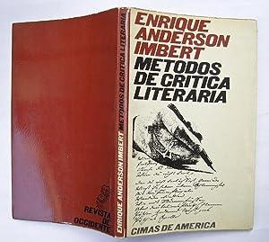Metodos De Crítica Literaria: Enrique Anderson Imbert